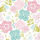 Bloemen naadloze patroon of achtergrond Stock Foto