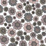 Bloemen Naadloze Patroon van Boho herhaalt het Elegante Ditsy, Neutrals het Patroonachtergrond van de bloemenoppervlakte Bloemenp vector illustratie