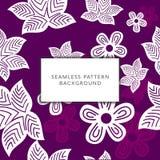 Bloemen naadloze patroon vectorachtergrond royalty-vrije illustratie