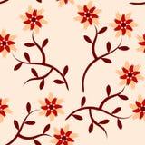 Bloemen naadloze patroonachtergrond Stock Afbeelding
