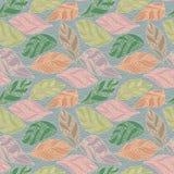 Bloemen naadloze patroonachtergrond Royalty-vrije Stock Afbeelding
