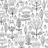 Bloemen naadloze patroonachtergrond stock foto's
