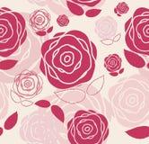 Bloemen Naadloze Patroonachtergrond voor Huwelijk en Stock Foto's