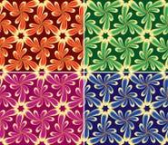 Bloemen naadloze reeks (vector, CMYK) Royalty-vrije Stock Afbeelding