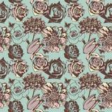 Bloemen naadloze textuur royalty-vrije illustratie