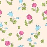 Bloemen naadloze textuur. Stock Afbeelding
