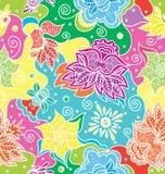 Bloemen naadloze textuur Heldere achtergrond royalty-vrije illustratie