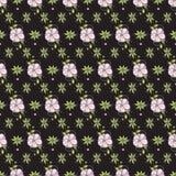 Bloemen niet naadloze patroonachtergrond Royalty-vrije Stock Afbeeldingen