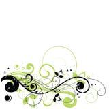 Bloemen ontwerp met tekstruimte vector illustratie