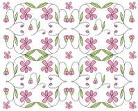 Bloemen ontwerpachtergrond Stock Illustratie