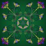 Bloemen ontwerpelement Royalty-vrije Stock Afbeeldingen