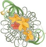 Bloemen ontwerpelement. stock illustratie