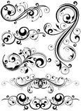 Bloemen ontwerpelementen Royalty-vrije Stock Afbeeldingen