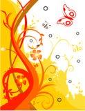 Bloemen ontwerpillustratie Stock Afbeeldingen