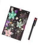 Bloemen ontwerpnotitieboekje Royalty-vrije Stock Afbeelding