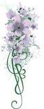 Bloemen ontwerpreeks vector illustratie