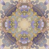 Bloemen ontwerpwijnoogst Stock Afbeelding
