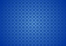 Bloemen Oosterse Aard, Sier, Chinees, Arabisch, Islamitisch, Imlek, Ramadan, de Textuur van het Festival Blauw Patroon Behang Als stock illustratie