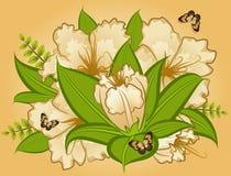 Bloemen op achtergrond Royalty-vrije Stock Afbeelding