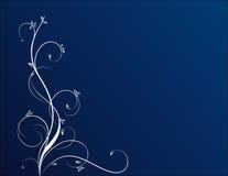 Bloemen op blauwe achtergrond Stock Afbeeldingen