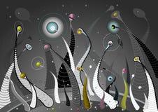 Bloemen op de planeet, vector   Royalty-vrije Stock Foto
