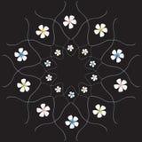 Bloemen op de zwarte achtergrond vector illustratie
