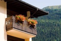 Bloemen op een balkon Royalty-vrije Stock Afbeeldingen
