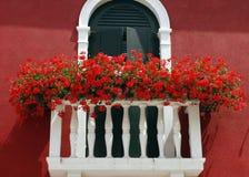 Bloemen op een balkon Royalty-vrije Stock Afbeelding