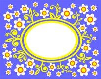 Bloemen op een blauwe achtergrond Royalty-vrije Stock Fotografie