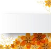 Bloemen op een document achtergrond Stock Afbeeldingen