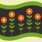 Bloemen op een donkere achtergrond Royalty-vrije Stock Afbeelding