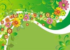 Bloemen op een golf Stock Foto's