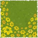 Bloemen op een grungeachtergrond Royalty-vrije Stock Foto