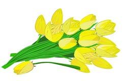 Bloemen op een transparante achtergrond Royalty-vrije Stock Afbeeldingen