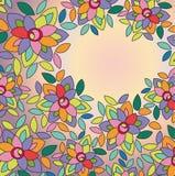 bloemen op gekleurde achtergrond Royalty-vrije Stock Afbeeldingen