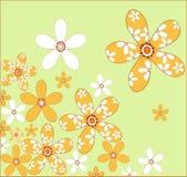 Bloemen op green Royalty-vrije Stock Foto's