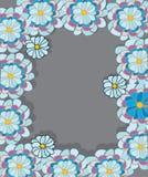 Bloemen op grijze achtergrond Royalty-vrije Stock Afbeeldingen