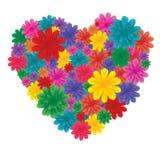 Bloemen op hart Royalty-vrije Stock Foto