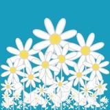 Bloemen op hemelachtergrond Royalty-vrije Stock Afbeelding