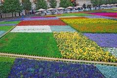 Bloemen op het Rode Vierkant Royalty-vrije Stock Foto