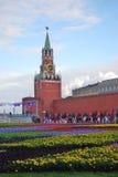 Bloemen op het Rode Vierkant Royalty-vrije Stock Foto's