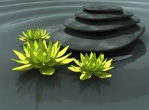 Bloemen op het water Stock Afbeeldingen
