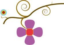 Bloemen op tak Stock Illustratie