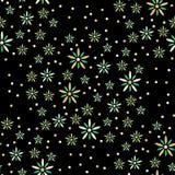 Bloemen op zwarte achtergrond Royalty-vrije Stock Afbeelding