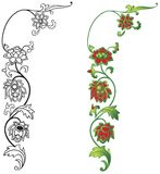 Bloemen ornament stock illustratie