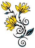 Bloemen ornament Stock Foto's