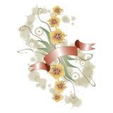 Bloemen ornament grunge vector illustratie
