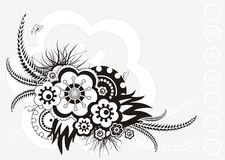 Bloemen ornament, vectorillustratie vector illustratie