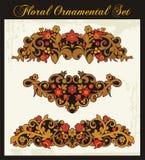 Bloemen Ornamenten in Russische In traditionele stijl Royalty-vrije Stock Afbeelding