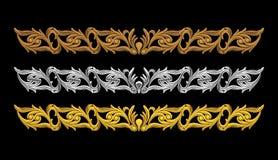 Bloemen ornamentreeks Stock Foto